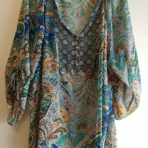 Beautiful multi-colored tunic top